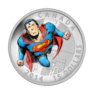 Tapas de Libros de Cómics Superman™ 2014 de 3/4 oz: Moneda de Plata Cómics de Acción #419