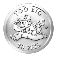 1 oz 2014 Too Big to Fail - Bankster Series Silver Round