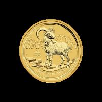 1/4 oz Goldmünze - Jahr der Ziege - Perth Prägeanstalt 2015