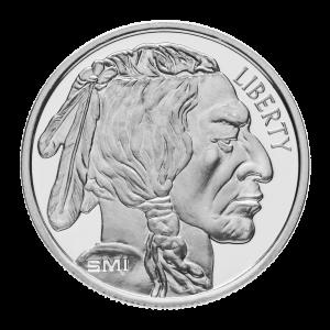 Ronde d'argent Bison SMI de 1 once