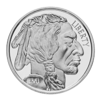 Disco argento 1 oz SMI Bisonte