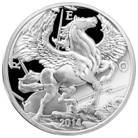 10 oz Silbermedaille - Pegasus - 2014