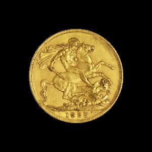 Moneda de oro Soberana de año aleatorio