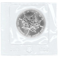 1 oz 1989 Canadian Maple Leaf Flex Sealed Silver Coin