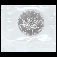 1 oz eingeschweißte Silbermünze - kanadische Ahornblatt - 1999