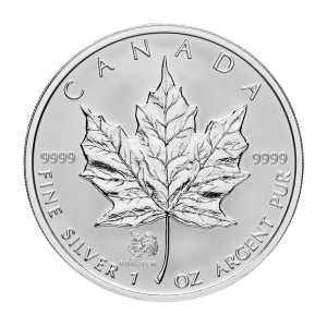 1 oz 2005 Canadian Maple Leaf Year of the Rooster Privy Silver Coin
