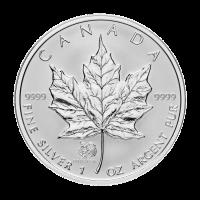 1 oz kanadische Silbermünze - Ahornblatt - Jahr des Hahns 2005 Sonderprägung