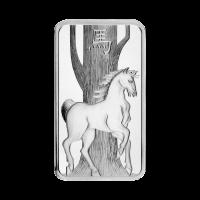 1 oz dünner PAPM Suisse Silberbarren in Münzkapsel - Jahr des Pferdes - 2014