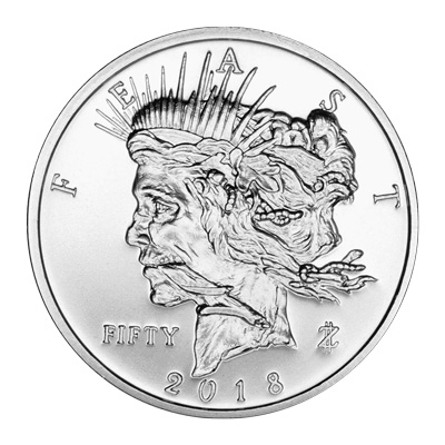 1 oz Zombucks Feast Dollar Silver Round