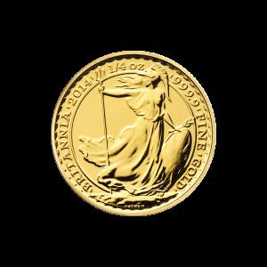 Pièce d'or Britannia 2014 de 1/4 once