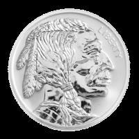 1 oz Silbermedaille - Rückseite Büffel - limitiert