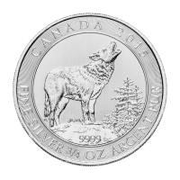 3/4 oz 2015 Canadian Grey Wolf Silver Coin