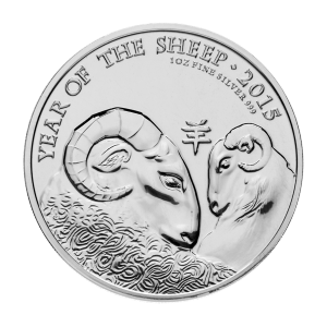 1 oz 2015 The Royal Mint Lunar Year of the Sheep Silver Coin