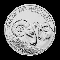 Moneda de Plata Casa de la Moneda Real Británica Año Lunar de la Oveja 2015 de 1 oz