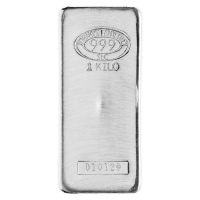 1 kg | kilo Johnson Matthey Silver Bar