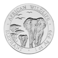 1 oz somalische Silbermünze - afrikanischer Elefant - 2015