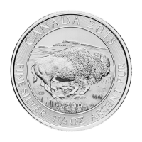 Moneda de Plata Bisonte Canadiense 2015 de 1.25 oz