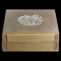 תיבת מפלצת ריקה למטבעות תיבת נח ארמני מכסף ששוקלים חצי אונקיה