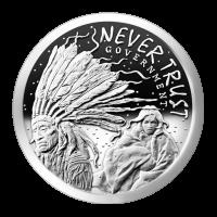 1 oz Silbermedaille - Vertraue niemals der Regierung - 2014 - Zustand: Spiegelglanz