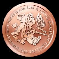 1 oz Kupfermedaille - Das Ende der Linie - 2014