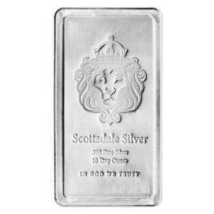 10 oz stapelbarer Silberbarren - Scottsdale Prägeanstalt
