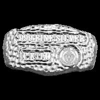 1 kg Silberbarren der Scottsdale Prägeanstalt - Grabstein Silberklumpen