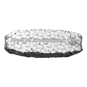 10 oz Scottsdale Mint Tombstone Nugget Silver Bar