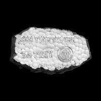 5 oz Silberbarren der Scottsdale Prägeanstalt - Grabstein Silberklumpen