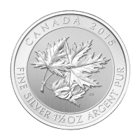 Pièce d'argent Maple Leaf canadienne « Superleaf » 2015 de 1,5 once