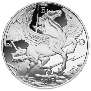10 oz 2015 Pegasus Silver Proof Round