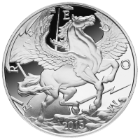 10 oz 2015 Pegasus sølv proof round
