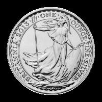 1 oz Britannia Silbermünze - Jahr der Schlange - Sonderprägung 2013