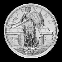1 oz Zombucks Uitgehongerde Liberty Zilveren Plak