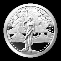 1 oz Silbermedaille - Non Vi Virtute Vici - 2015 Zustand: Spiegelglanz