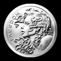 1 oz Silbermedaille - Freiheitsmädchen - 2015