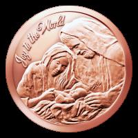 1 oz Kupfermedaille - Freue dich Welt - 2015