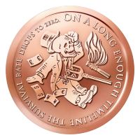 1 oz Kupfermedaille Das Ende der Linie 2015