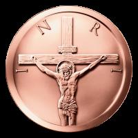 1 oz Kupfermedaille - Kreuzigung - 2015