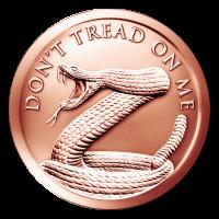 1 oz Kupfermedaille - Tritt nicht auf mich - 2015
