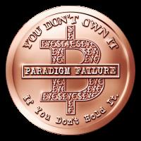1 oz Kupfermedaille - BitCON - 2015