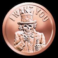 1 oz Kupfermedaille - Sklavenonkel - 2015