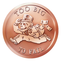 1 oz 2015 Too Big to Fail Copper Round