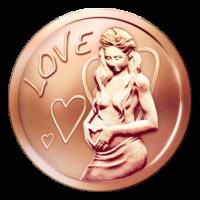 1 oz Liebe Kupfermedaille - 2015
