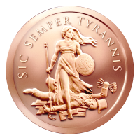 1 oz Sic Semper Tyrannis Kupfermedaille - 2015