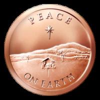 1 oz Kupfermedaille Frieden auf Erden - 2015