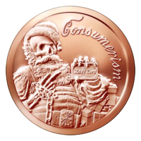 1 oz Kupfermedaille Konsumdenken 2015