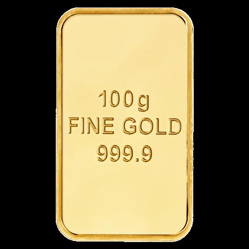 100 g reines ausgewähltes Gold