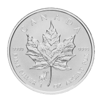 1 oz 2015 Canadian Maple Leaf Year of the Sheep Privy Silver Coin