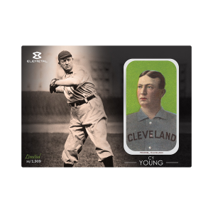 1 oz Cy Young Elemetal T-206 Baseball Greats Series Silver Bar