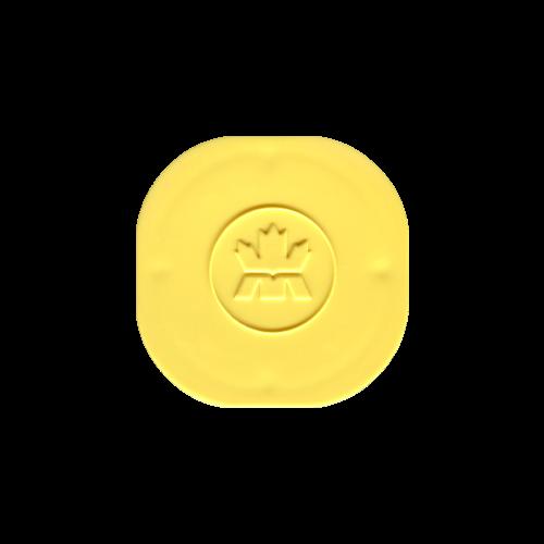 Leere gelbe Deckelröhre für 3/4 bis 1,5 oz Silbermünzen von RCM